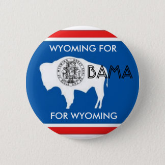 WYOMING FOR OBAMA Button