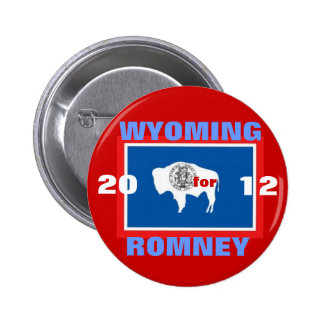 Wyoming for Romney 2012 6 Cm Round Badge