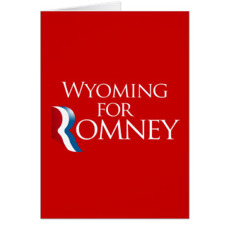 Wyoming for Romney -.png Greeting Card