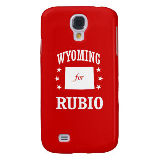 WYOMING FOR RUBIO GALAXY S4 CASE