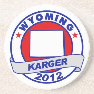 Wyoming Fred Karger Beverage Coaster