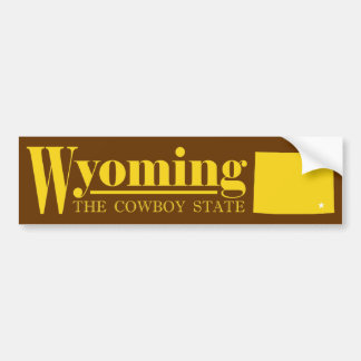 Wyoming Gold Bumper Sticker