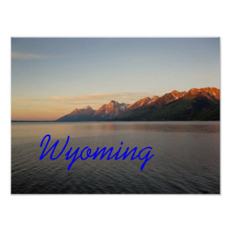 Wyoming Grand Teton Mountains Poster