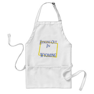 Wyoming - Hanging Out Standard Apron