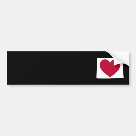 Wyoming Heart Bumper Sticker