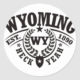 Wyoming Heck Yeah Est 1890 Stickers