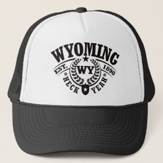 Wyoming, Heck Yeah, Est. 1890 Trucker Hat