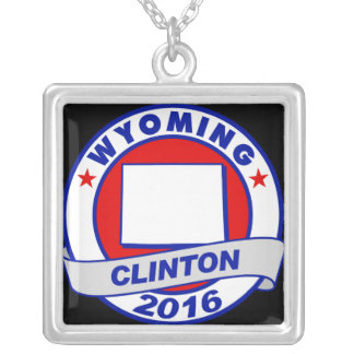 wyoming Hillary Clinton 2016.png Square Pendant Necklace