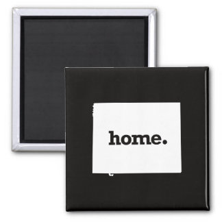 Wyoming Home Square Magnet