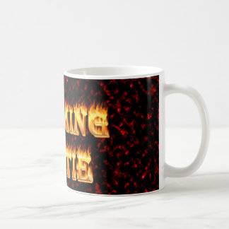 Wyoming hottie fire and flames design red coffee mug