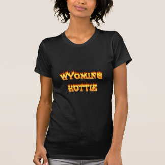 Wyoming hottie fire and flames shirt