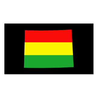 Wyoming in Rasta Colors Business Cards