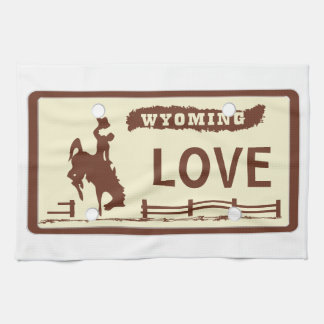 Wyoming License Plate Towel