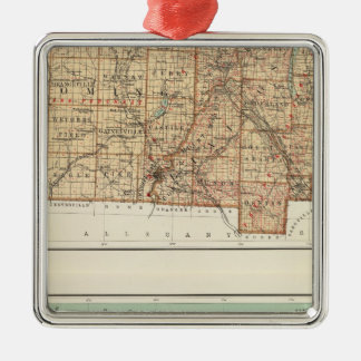 Wyoming, Livingston, Orleans, Genesee Silver-Colored Square Decoration