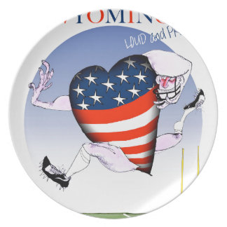 Wyoming loud and proud, tony fernandes party plate