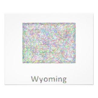 Wyoming map 11.5 cm x 14 cm flyer