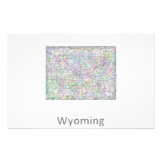 Wyoming map 14 cm x 21.5 cm flyer