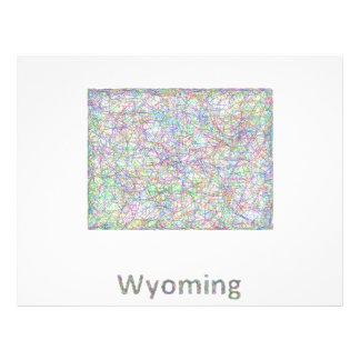 Wyoming map 21.5 cm x 28 cm flyer