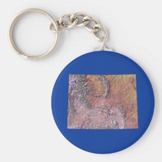 Wyoming Map Keychain