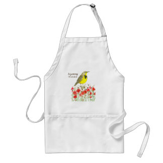 Wyoming Meadowlark Indian Paintbrush Flowers Standard Apron