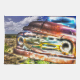 Wyoming Old Chevy Truck Kitchen Towel Vintage Art