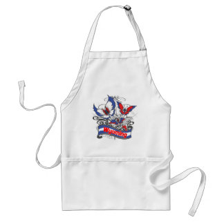Wyoming Patriotism Butterfly Standard Apron