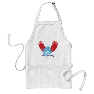 Wyoming Peace Sign Adult Apron