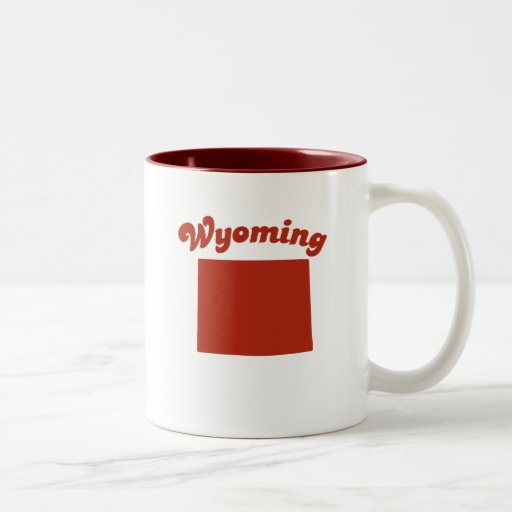 WYOMING Red State Coffee Mugs
