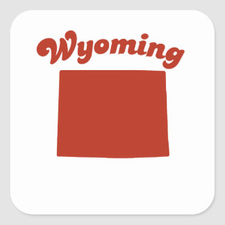 WYOMING Red State Stickers