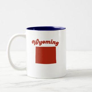 WYOMING Red State Two-Tone Mug
