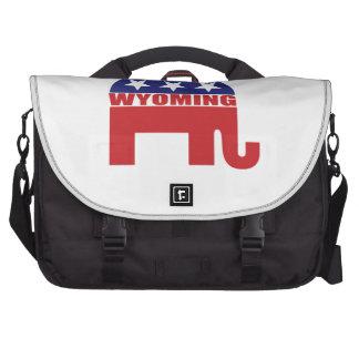 Wyoming Republican Elephant Laptop Messenger Bag
