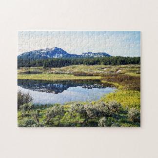 Wyoming, Rocky Mountains, A mountain peak Jigsaw Puzzle