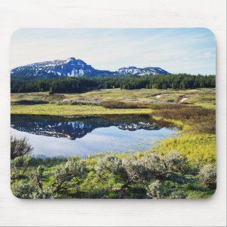 Wyoming, Rocky Mountains, A mountain peak Mouse Mat