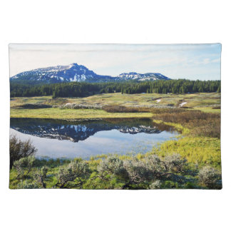 Wyoming, Rocky Mountains, A mountain peak Placemat