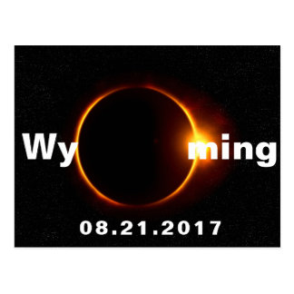 Wyoming Solar Eclipse Postcard