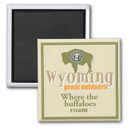 WYOMING SQUARE MAGNET