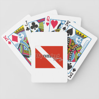 Wyoming State Diving Flag Poker Deck