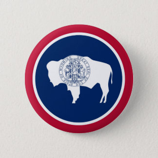 Wyoming State Flag 6 Cm Round Badge