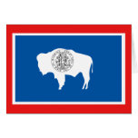 Wyoming State Flag Cards
