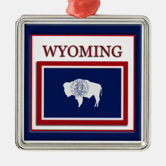Wyoming State Flag Christmas Ornament