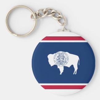 Wyoming State Flag Key Ring