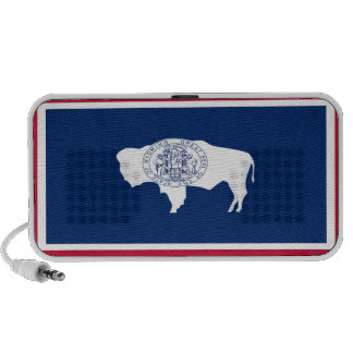 Wyoming State Flag Portable Speakers