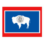 Wyoming State Flag Postcards