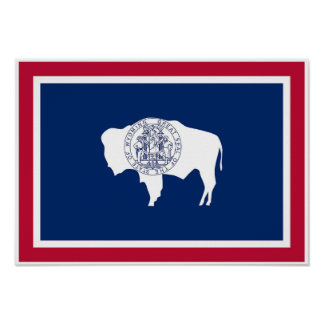 Wyoming State Flag Poster