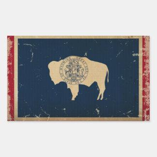 Wyoming State Flag VINTAGE Rectangular Sticker