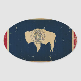 Wyoming State Flag VINTAGE Sticker