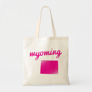 Wyoming State in pink Tote Bag