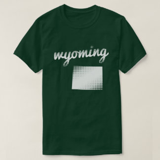 Wyoming state in white T-Shirt