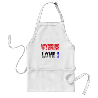 Wyoming State Love !!!! Adult Apron