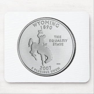 Wyoming State Quarter Mouse Pads